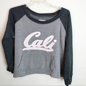 Green Sleeved California plus size sweatshirt